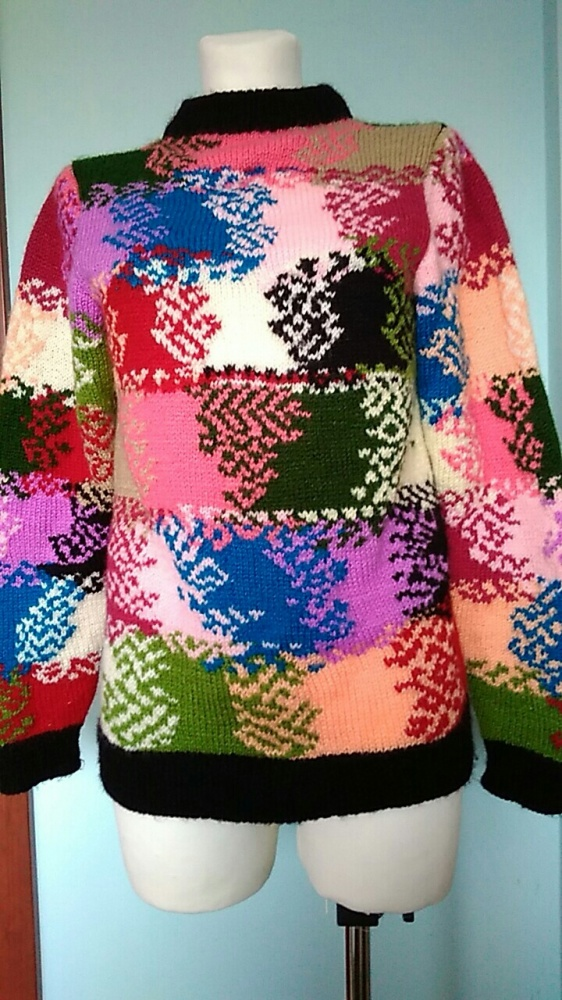 kolorowy cieplutki sweter