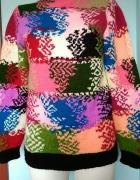 kolorowy cieplutki sweter...