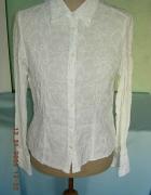 Romantyczna biała bluzka bluzeczka koszula hafty L...