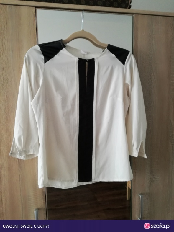 elegancka kremowa bluzka 36