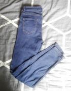 Spodnie rurki jeansy jeans jeansowe z dziurami na kolanach S M...