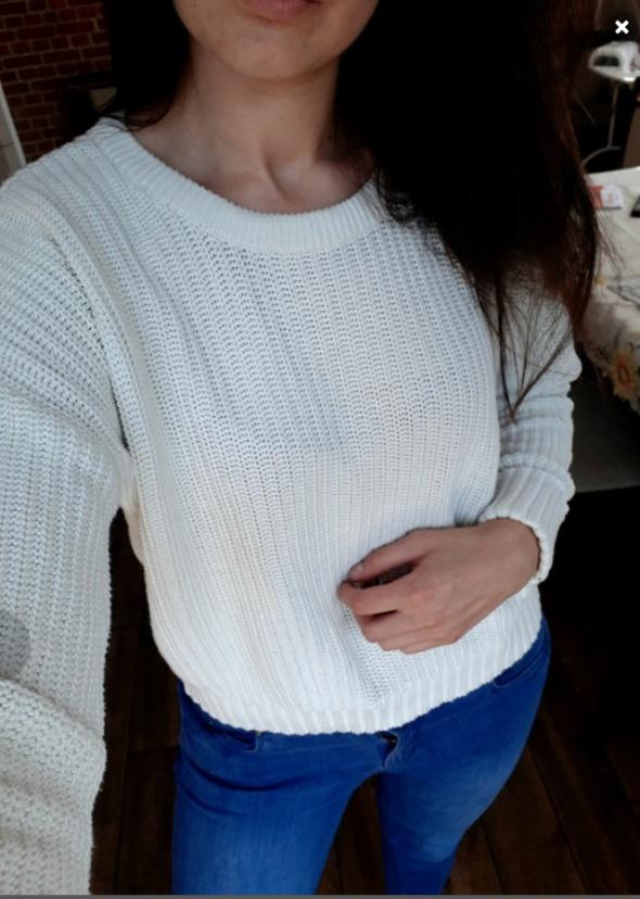 Sweterek biały kremowy l xl vero moda