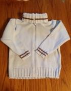 HM błękitny elegancki sweterek dla smyka 110...