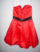 Elegancka kobieca sukienka bombka studniówka bal...