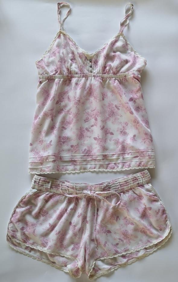 piżama koszula szorty H&M kwiaty S
