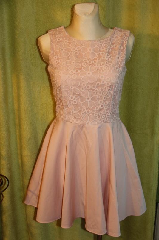 Koronkowa sukienka na wesele Morelowa sukienka