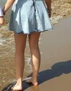 Spódnica rozkloszowana jeansowa piękna HIT...