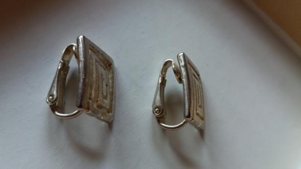 Klipsy grecki wzór srebro próba 953