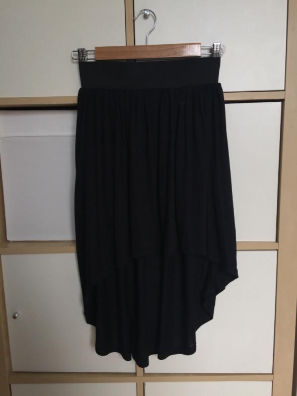 Asymetryczna czarna spódnica M