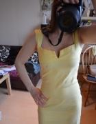 Żółta sukienka deklot