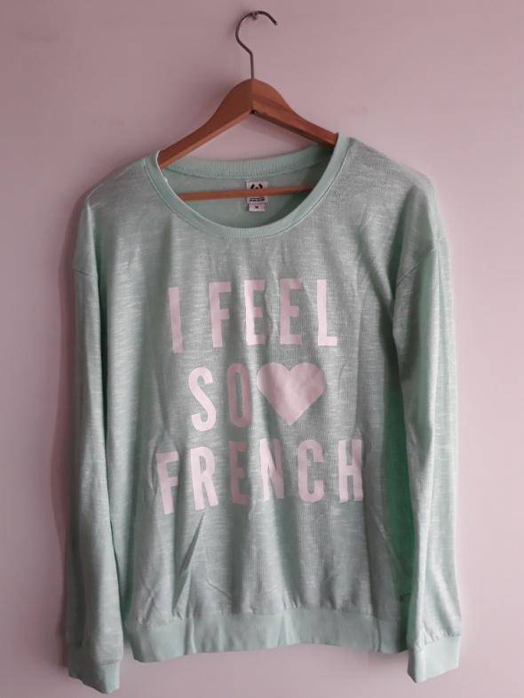 Miętowa bluzka sweterek Cropp rozm M