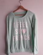 Miętowa bluzka sweterek Cropp rozm M...