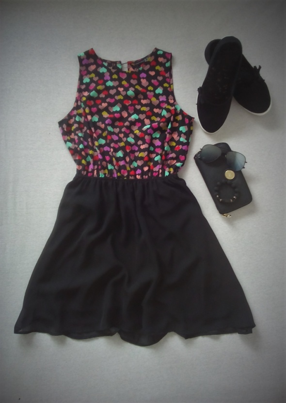 super sukienka w serduszka ATMOSPHERE