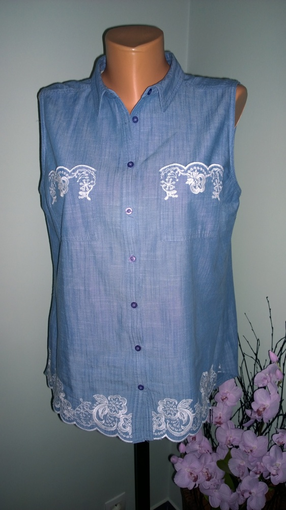 koszula z haftem 44