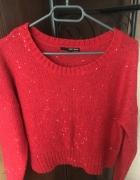 TALLY WEIJL czerwony sweterek 38 M...