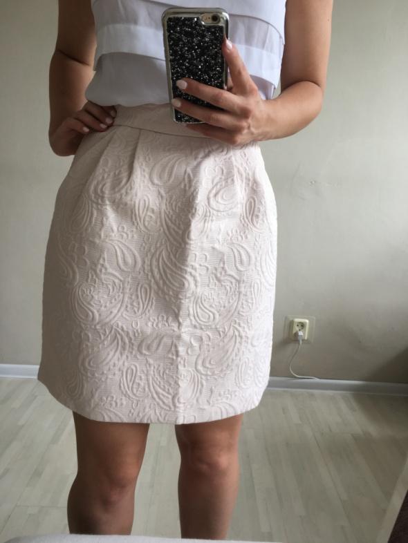 Spódnice Żakardowa spódnica xs s nude