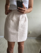 Żakardowa spódnica xs s nude