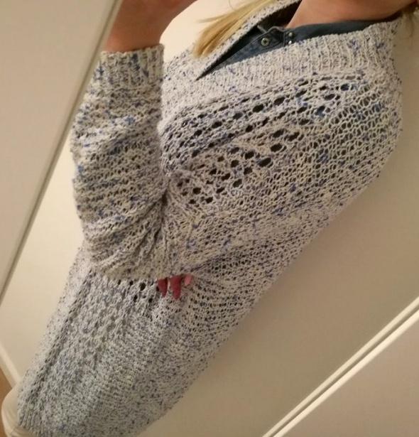 Niebiesko biały długi sweter Esprit S...