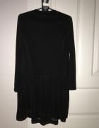 Czarna sukienka mgiełka Mango XS