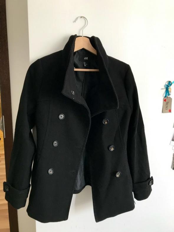 Płaszcz czarny H&M