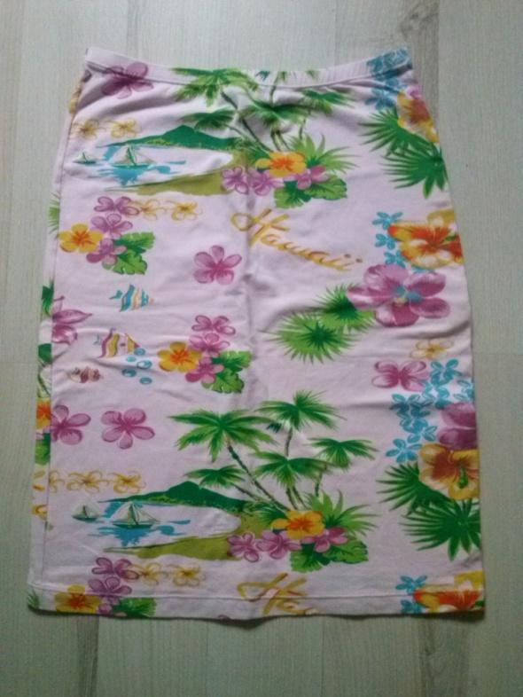 Spódnica kwiaty hawaje różowa XS S...