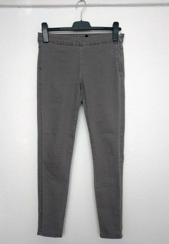 Szare jeansy spodnie rurki średni stan rozm 36 H&M