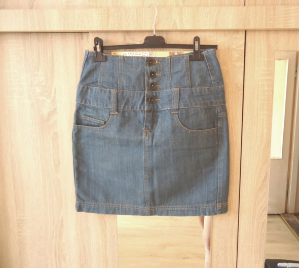 jeansowa spódnica wysoki stan M denim super