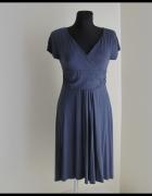 Sukienka asymetryczna za kolano rozmiar 40 L elastyczna...