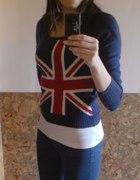 sweter motyw flagi UK xs s m wielka brytania