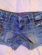 spodenki szorty jeansowe dżinsowe xs s m DIY...