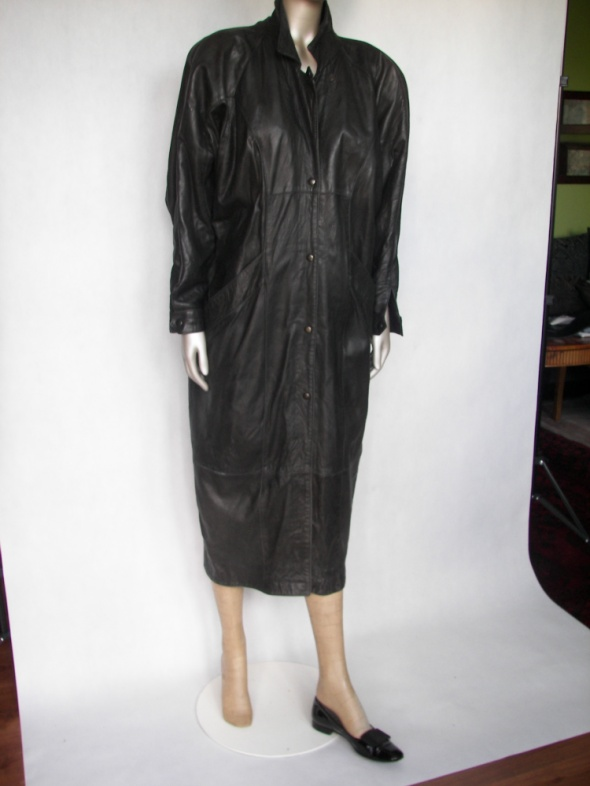 493c2dfd8357b vintage płaszcz skóra naturalna w Odzież wierzchnia - Szafa.pl