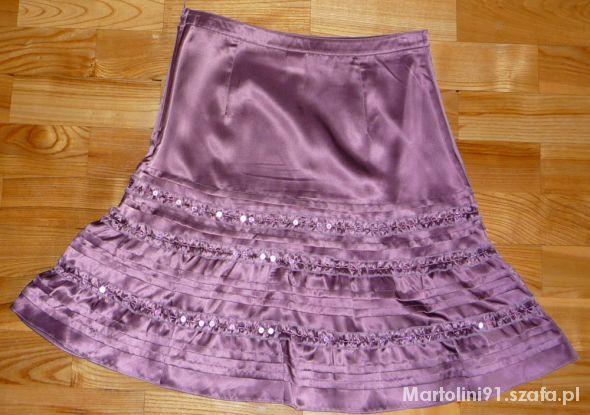 śliczna spódnica Camaieu jedwab cekiny 36 TANIO...