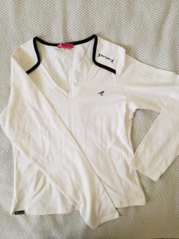 Biała sportowa bluzka
