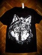 Ręcznie malowana koszulka z wizerunkiem wilka
