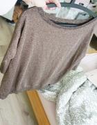 brokatowy złoty sweterek reserved