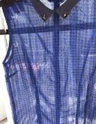 koszula mgiełka z kołnierzykiem Stradivarius trans...