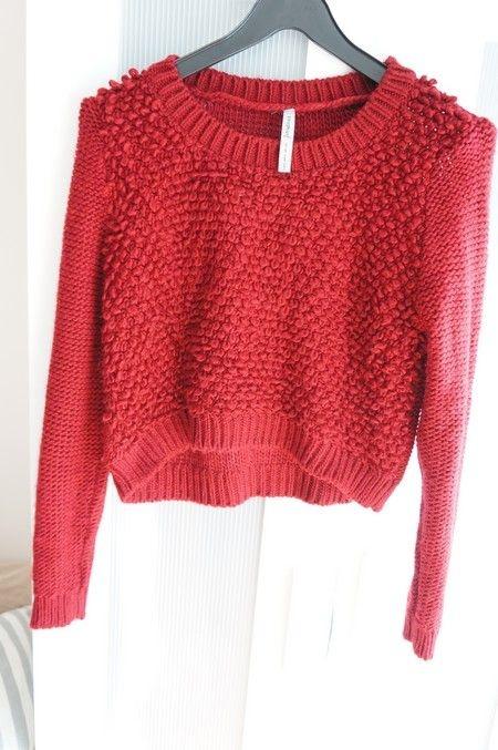 WYPRZEDAŻ bordowy sweterek stradivarius crop