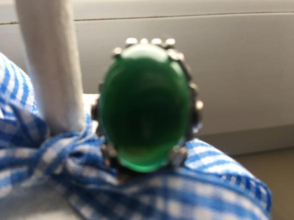 Stary srebrny pierścionek 16