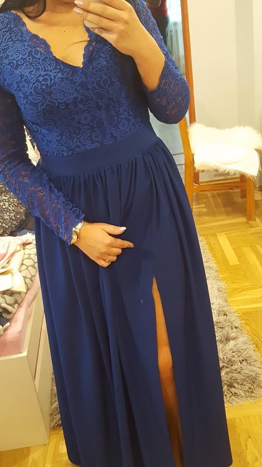 Długa suknia szyta na miarę