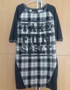 RESERVED tunika w kratę sukienka zara styl