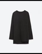 ZARA czarna bluza marszczona asymetryczna