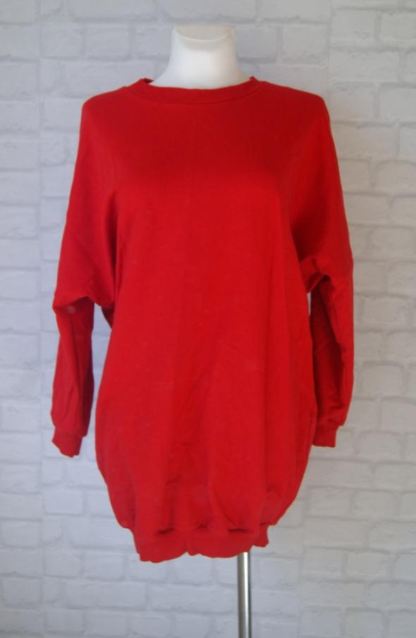 Bluza nietoperz dresowa czerwona sukienka