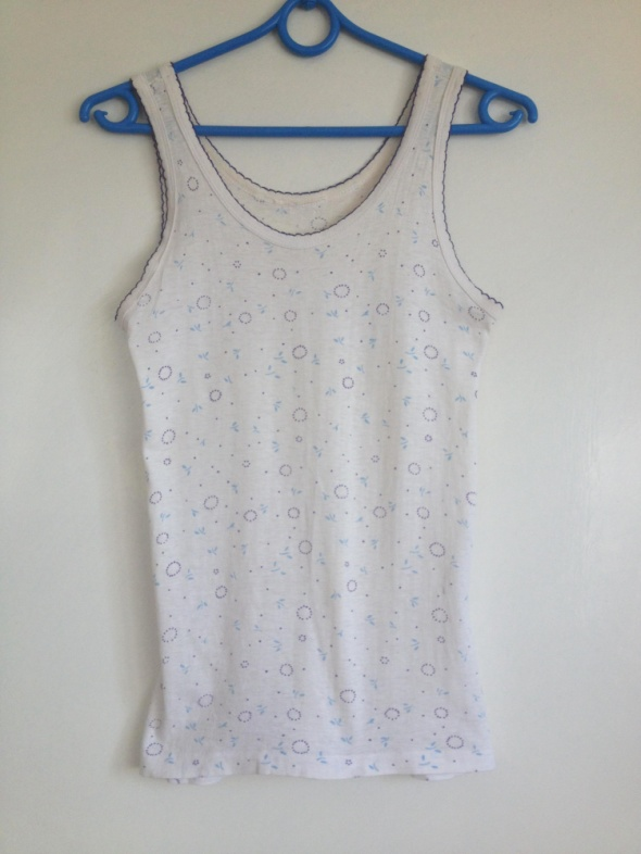 Koszulka nocna bokserka łączka delikatna kwiaty biała XS S M 34 36 38