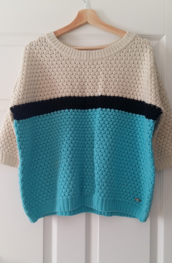 gruby oversizowy sweter...