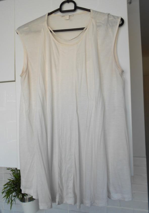 COS kremowa koszulka top minimalizm klasyka...