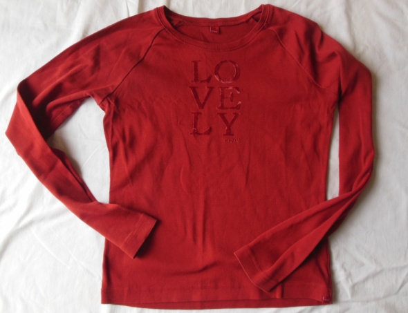 ESPRIT czerwona bluzka ceglasta 38 shirt lovely...
