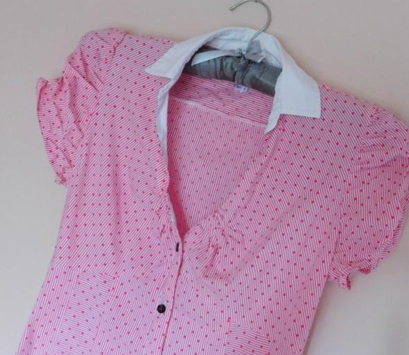 Bluzka Next biała różowa 34 36...