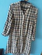Koszula sukienka kratka...