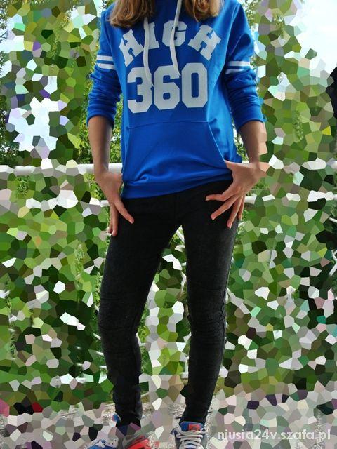 bluza niebieska z napisem HIT 2014 nowy model