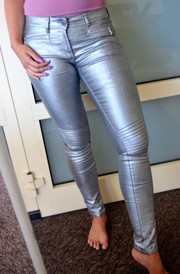 Amisu rurki zip przeszycia srebrne 36 38